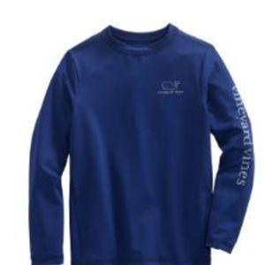 Boys Vineyard 1 Sz Med Rash Guard Swim Shirt